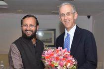 Todd Stern, US Special. Envoy for Climate Change meets MOS(I/C) Env. Forests & Climate Change Prakash Javadekar