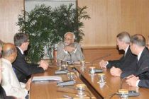 A delegation of Justices from Federal Republic of Germany meeting the Vice President, Mohd. Hamid Ansari, in New Delhi
