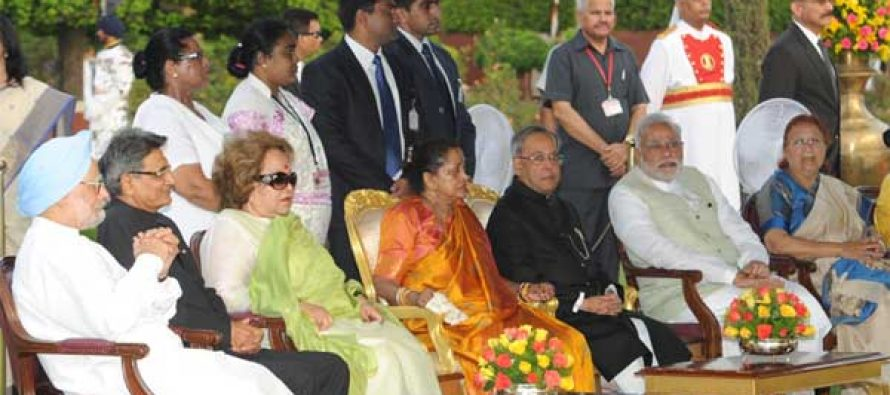 The President, Pranab Mukherjee during the 'At Home' function, organised on the occasion of 68th Independence Day.