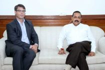 The High Commissioner of Australia to India, Patrick Suckling calling on the MoS for Science and Technology (IC), Earth Sciences (IC), Prime Minister Office, Personnel, Public Grievances & Pensions, Department of Atomic Energy and Department of Space, Dr. Jitendra Singh
