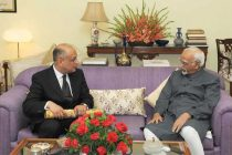The Ambassador of Arab Republic of Egypt to India, Khaled El Bakly calls on the Vice President, Mohd. Hamid Ansari
