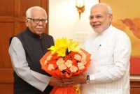 The Governor of Uttar Pradesh, Ram Naik, calls on the Prime Minister, Narendra Modi, in New Delhi on August 27, 2014.