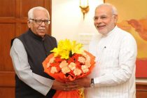 The Governor of Uttar Pradesh, Ram Naik, calls on the Prime Minister, Narendra Modi, in New Delhi on August 27, 2014.