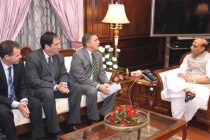 A delegation led by the Ambassador of Israel to India, Daniel Carmon calls on the Union Home Minister, Rajnath Singh