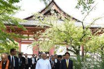 Indian PM Modi visits Toji temple in Kyoto