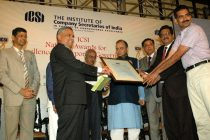 REC receives 13th ICSI National Award for Excellence in Corporate Governance