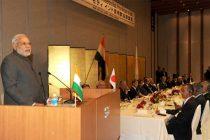 The Prime Minister, Narendra Modi delivering the keynote address at Business Luncheon, in Tokyo, Japan on September 01, 2014.