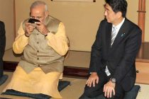 The Prime Minister of Japan, Shinzo Abe hosts a Tea ceremony as a special gesture for the Prime Minister, Narendra Modi