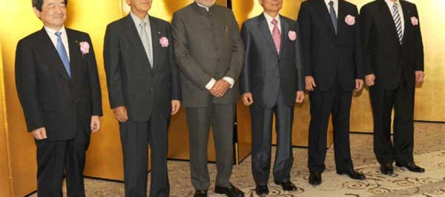 The Prime Minister, Narendra Modi at the luncheon meeting of business leaders, in Tokyo, Japan on September 01, 2014.