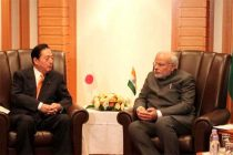 The Minister of Land, Infrastructure, Transport and Tourism, Akihiro Ohta calls on the Prime Minister, Narendra Modi