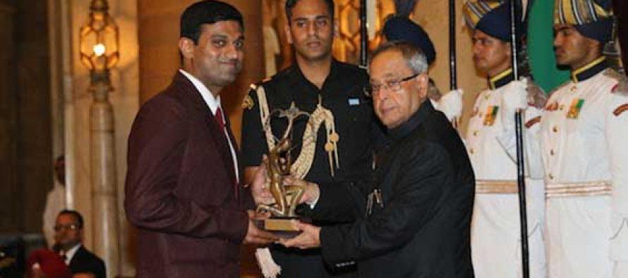 ONGC receives Highest sports award 'Rashtriya Khel Protsahan Puruskar' from President
