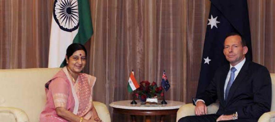 Australian PM thanks India for splendid welcome