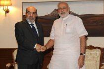 The DG, FAO, Dr. Jose Graziano da Silva calls on the Prime Minister, Narendra Modi, in New Delhi on September 09, 2014.