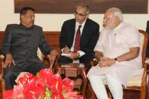 The Minister of Natural Resources, Malaysia, Datuk Seri G. Palanivel calls on the Prime Minister, Narendra Modi