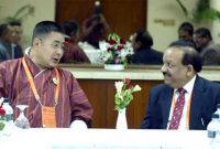 The Union Minister for Health and Family Welfare, Dr. Harsh Vardhan and the Health Minister, Bhutan, Tandin Wangchuk