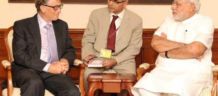 Bill Gates meets Modi