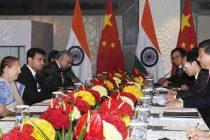 The Speaker, Lok Sabha, Sumitra Mahajan meeting the Chinese President, Xi Jinping, in New Delhi