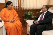 The Foreign Minister of Bangladesh, Abdul Hassan Mahmood Ali calls on the Minister for Water Resources, River Development and Ganga Rejuvenation, Sushri Uma Bharati
