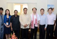 A Chinese Youth Delegation led by the Vice President of All- China Youth Federation, Zhou Changkui called on the MoS for Skill Development, Entrepreneurship, Youth Affairs and Sports (IC), Sarbananda Sonowal,