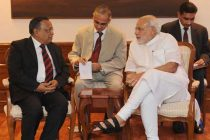 The Bangladesh Foreign Minister, Abul Hassan Mahmood Ali calling on the Prime Minister, Narendra Modi,