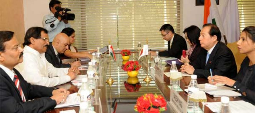 The MoS (IC) for Culture and Tourism, Shripad Yesso Naik and the Minister of Land, Infrastructure, Transport and Tourism (MLIT), Japan, Akihiro Ohta