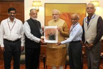 Mars images presented to Modi