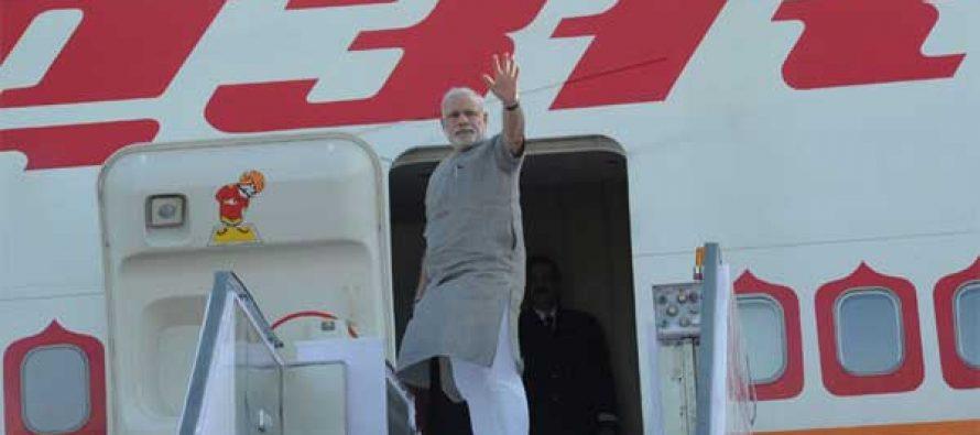 Modi leaves on US visit