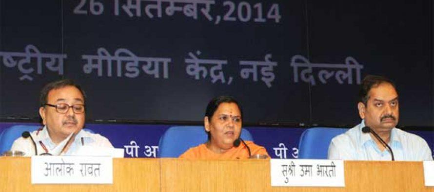 Inter-linking rivers remains priority: Uma Bharti