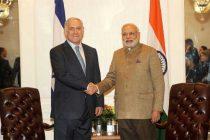 The Prime Minister of Israel, Benjamin Netanyahu meeting the Prime Minister, Narendra Modi, in New York on September 28, 2014.