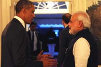 US President Barack Obama welcomes PM at the dinner hosted in his honour at the White House