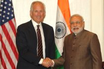 Chairman and CEO Boeing  W. James McNerney meeting the PM Narendra Modi, in New York
