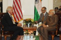 Chairman of the Board and CEO of General Electric, Jeffrey R. Immelt meeting the PM Narendra Modi, in New York