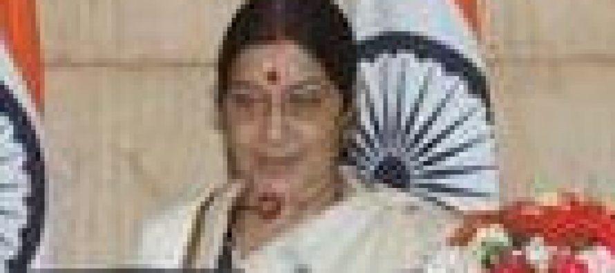 Sushma Swaraj meets Syrian counterpart