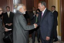 The Prime Minister, Narendra Modi meeting the Speaker of the United States House of Representatives, John Boehner,