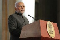 The Prime Minister, Narendra Modi delivering his address at the reception hosted by US-India Business Council,