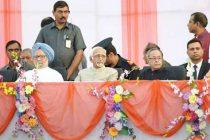 Modi, Manmohan, Sonia come together at Dussehra celebrations