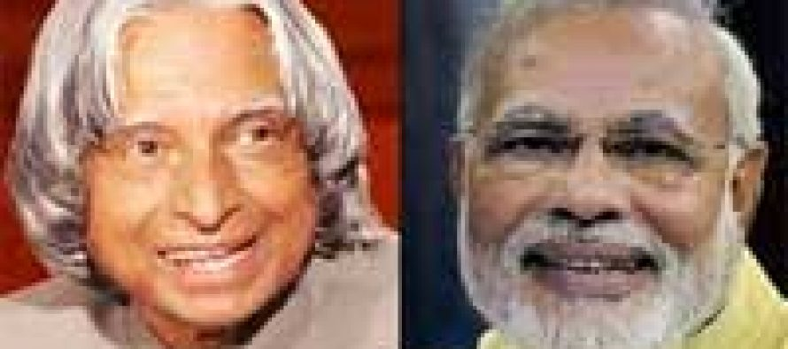 Modi wishes A.P.J. Abdul Kalam on his birthday