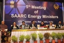 The MoS (IC) for Power, Coal and New and Renewable Energy, Shri Piyush Goyal delivering the inaugural address at the Fifth Meeting of the South Asian Association for Regional Cooperation (SAARC)