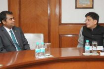 The MoS (IC) for Power, Coal and New and Renewable Energy, Shri Piyush Goyal in a bilateral meeting with the Minister of Environment and Energy, Maldives, Thoriq Ibrahim