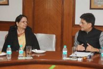 The MoS (IC) for Power, Coal and New and Renewable Energy, Shri Piyush Goyal in a bilateral meeting with the Minister for Energy, Nepal