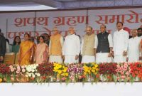 The Prime Minister, Narendra Modi attending the swearing in ceremony of new Haryana Chief Minister, at Panchkula, Haryana on Oct. 26, 2014.