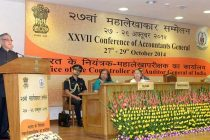 The President, Pranab Mukherjee addressing at the inauguration of the XXVII Accountants' General Conference