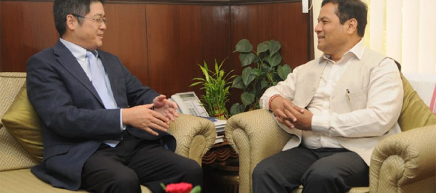 The Ambassador of China to India, Le Yucheng calling on the MoS for Skill Development, Entrepreneurship, Youth Affairs and Sports (IC)