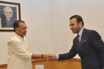 The Ambassador of Islamic Republic of Afghanistan to India, Shaida Mohammad Abdali meeting the Minister for Agriculture, Radha Mohan