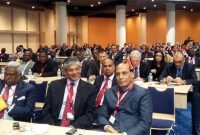 The Home Minister, Rajnath Singh led Indian delegation participating in the third Interpol General Assembly meet, in Monaco