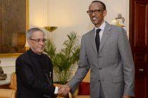 The President of the Republic of Rwanda, Paul Kagame calling on the President, Pranab Mukherjee, in New Delhi on November 05, 2014.