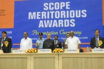 The President, Pranab Mukherjee at the SCOPE Meritorious Awards in Specialized fields to the Central Public Sector Enterprises