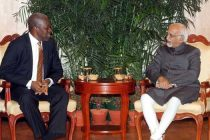 The Vice President of Ghana, Kwesi Amissah calling on the Vice President, Mohd. Hamid Ansari, in New Delhi on November 05, 2014.