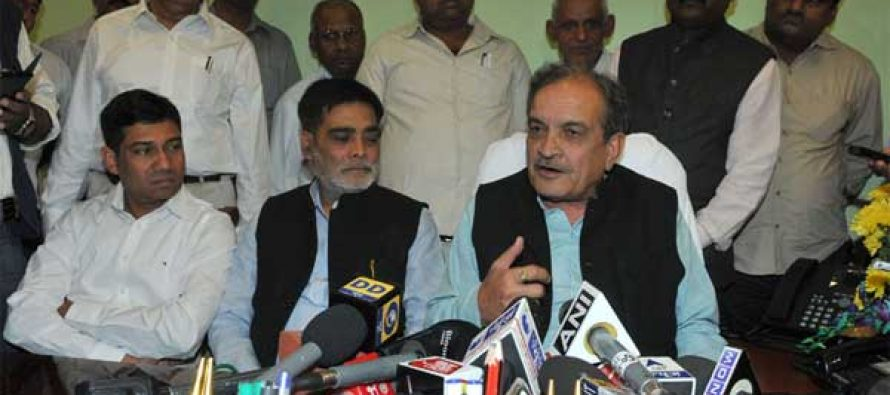 Chaudhary Birender Singh addressing the media after taking charge as the Union Minister for Rural Development, Panchayati Raj, Drinking Water and Sanitation