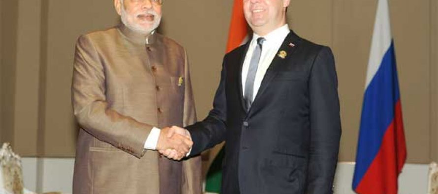 Modi meets Medvedev, attends East Asia Summit